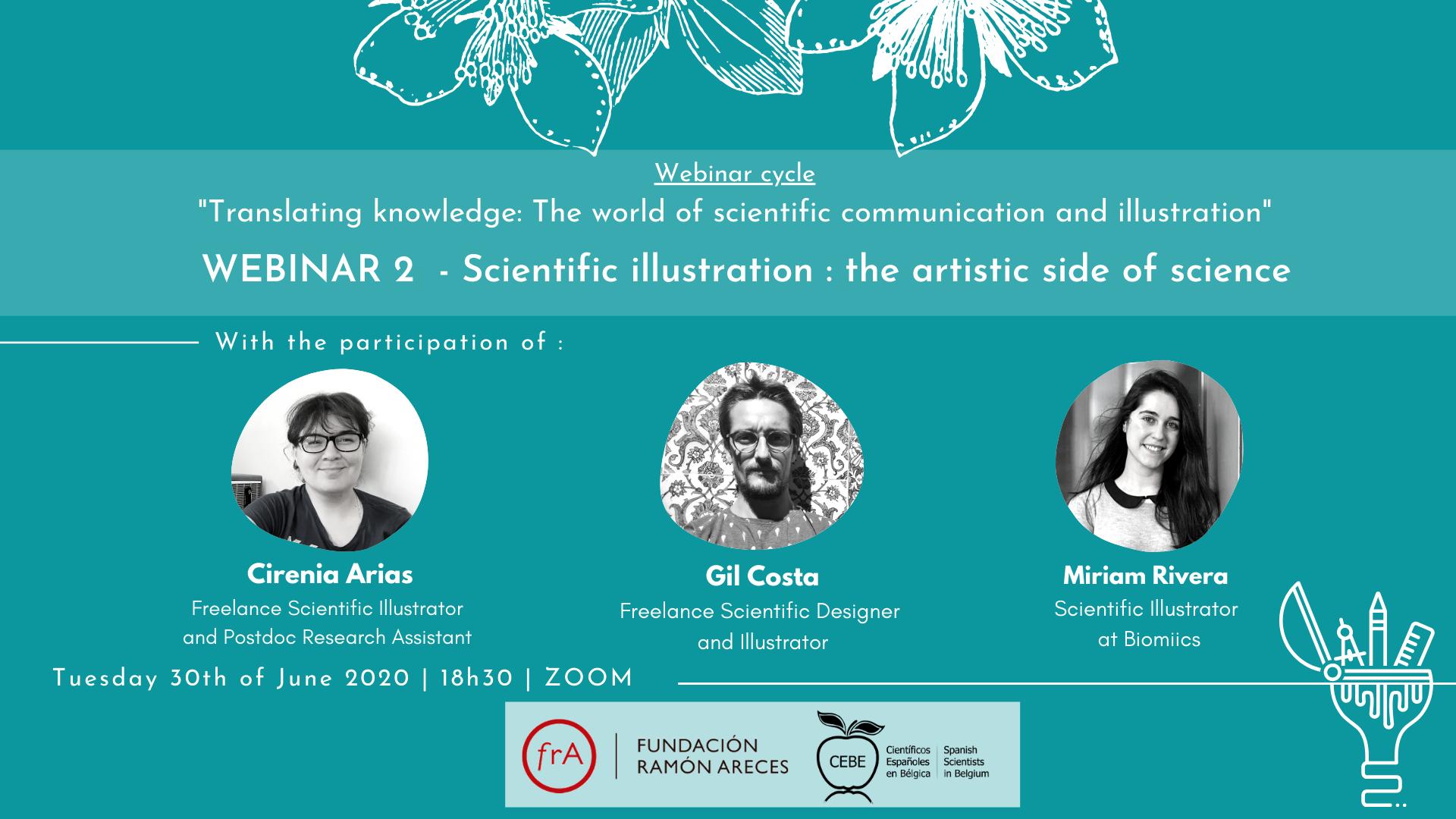 """Webinario 2: """"La ilustración científica : el lado más artístico de la ciencia"""""""